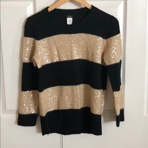 JCREW - Black and gold sweater